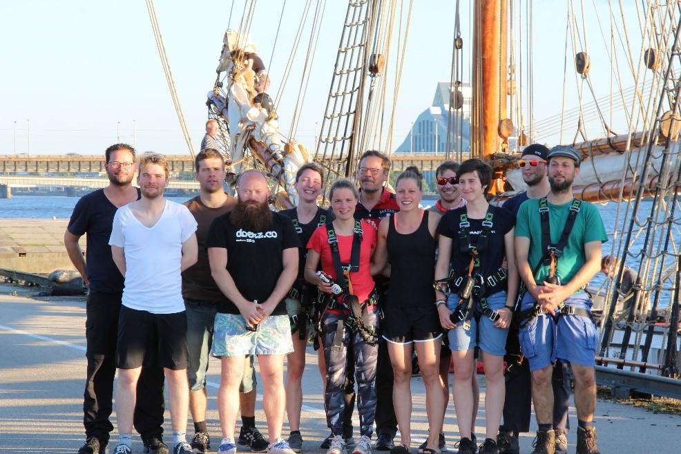 The CHREN Watch, ready to climb the rigging (Image: FAU/Regine Oyntzen)